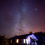 Milky Way from Hart of Mull Self catering log Cabins Isle of Mull